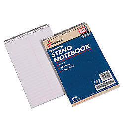 50percent Recycled Steno Notebooks 6 x