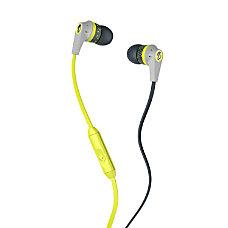 Skullcandy 20 Micd Earbud Headphones GrayLime