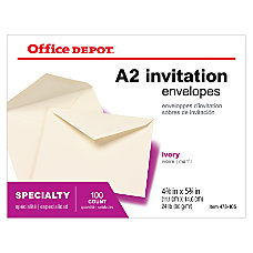 Office Depot Brand Clean Seal Invitation