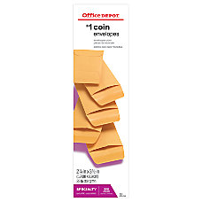 Office Depot Brand Coin Envelopes 1