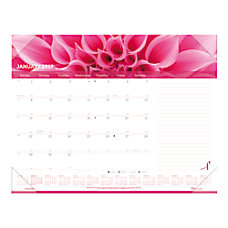 Brownline Pink Ribbon Desk Pad Calendar