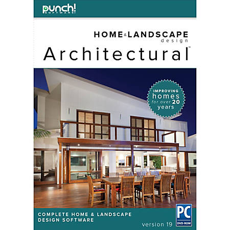 Punch architectural series 19 for pc download version by office depot officemax for Punch home design architectural series