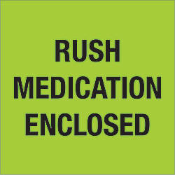 Tape Logic Preprinted Labels Rush Medication