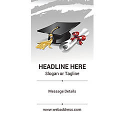 Custom Vertical Banner Graduation Hat And
