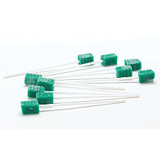 Medline DenTips Oral Swabsticks Treated Green
