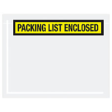 Office Depot Brand Packing List Enclsoed