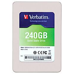 Verbatim 240GB 25 SATA III Internal