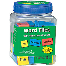 Eureka Learning Tool Tubs Word Tiles