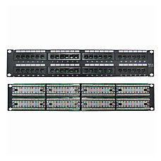 4XEM 48 Port CAT5E Rackmount Patch