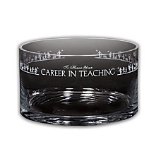 Career In Teaching Large Crystal Bowl