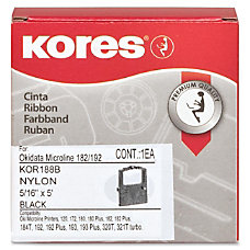 Industrias Kores Ribbon Dot Matrix Black