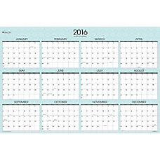Blue Sky Wall Planner Erasable 36