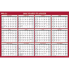 Blue Sky Wall Planner ErasableReversible 48