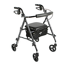 Guardian Ultralight Rollator 6 Wheels Black
