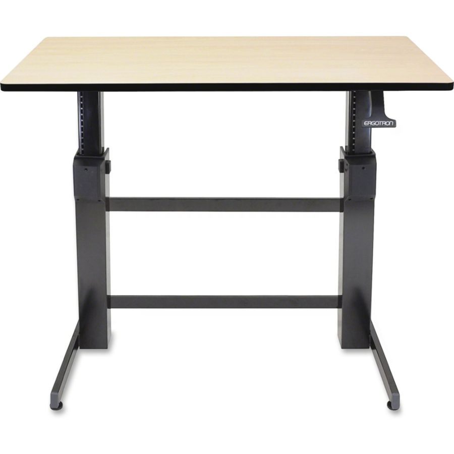 ergotron workfit d birch surface sit stand computer desk