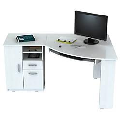 Inval Corner Computer Desk Laricina White