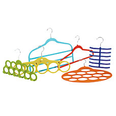 GNBI Flocked Hanger Set Multicolor