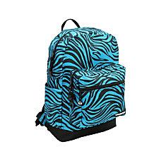 YakPak Vanderbilt Backpack Turquoise Zebra