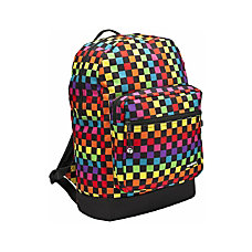 YakPak Vanderbilt Backpack Multicolor Checkerboard