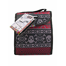 Yak Pak Lunch Tote Skulls Red