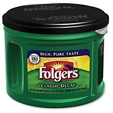 Folgers Custom Aroma Roast Coffee Decaffeinated