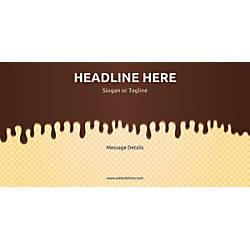 Custom Horizontal Banner Chocolate Wafer
