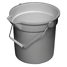 Continental Huskee Buckets 14 Quart Gray