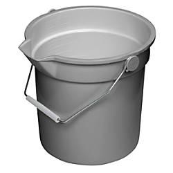 Continental Huskee Buckets 14 Quart Gray