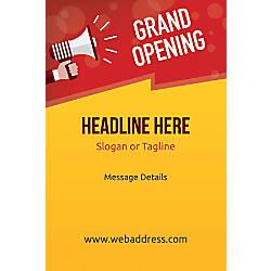 Custom Vertical Poster Grand Opening Announcement