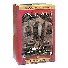 Numi Organic Ruby Chai Herbal Tea