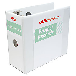 Office depot brand locking d ring view binder with spine for Depot ringcenter