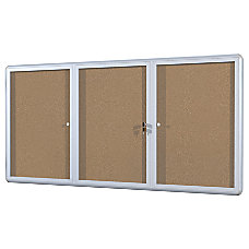 Mastervision Anodized Aluminum Frame Enclosed Cork