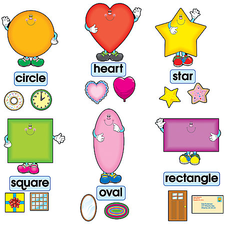 Carson dellosa bulletin board set shapes by office depot for Heart shaped bulletin board