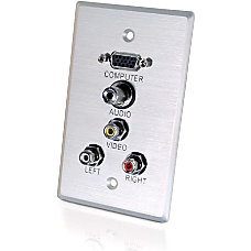 C2G 5 Socket AudioVideo Faceplate