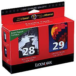 Lexmark 2829 BlackColor Ink Cartridges Model