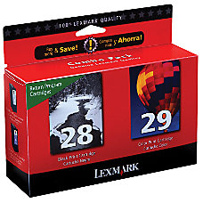 Lexmark 2829 BlackColor Ink Cartridges Model
