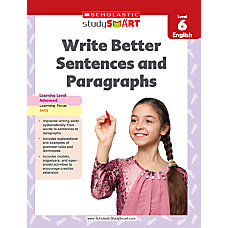 Scholastic Study Smart Write Better Sentences
