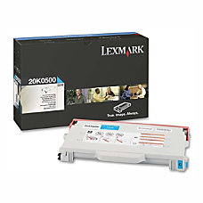 Lexmark 20K0500 Cyan Toner Cartridge