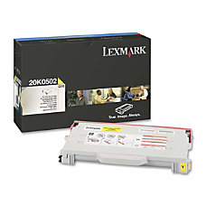 Lexmark 20K0502 Yellow Toner Cartridge