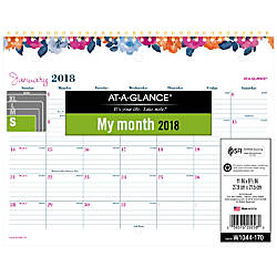 AT A GLANCE Eva Monthly Wall