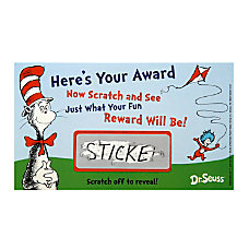 Eureka Dr Seuss Scratch Off Rewards