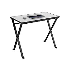 Ameriwood Prism Tempered Glass Desk With