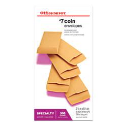 Office Depot Brand Coin Envelopes 7