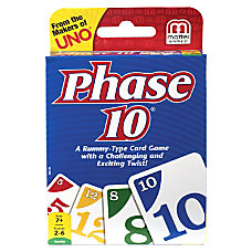 Mattel Phase 10 Card Game 2