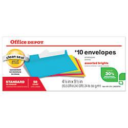 Office Depot Brand Brights Invitation Envelopes
