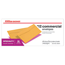 Office Depot Brand Business Envelopes 12