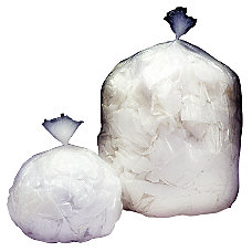 Medium Duty Clear Plastic Trash Bags