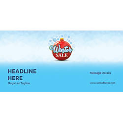 Custom Horizontal Banner Winter Sale