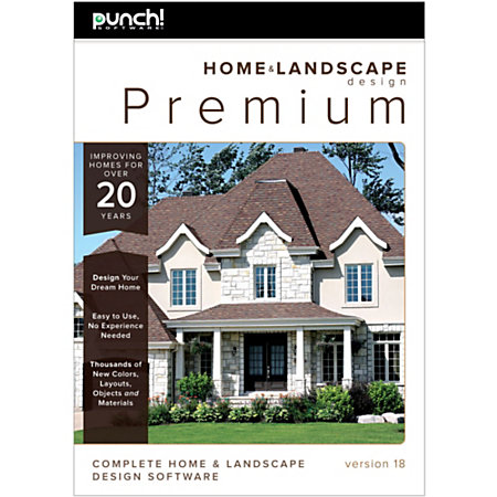 Punch software home and landscape design premium v18 download by office depot officemax for Virtual architect ultimate home design 7 download