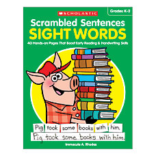 Activity Books Scrambled Sentences Sight Words
